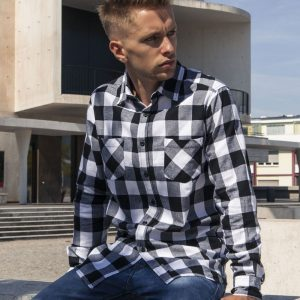 Men Checked Flanell Hemd