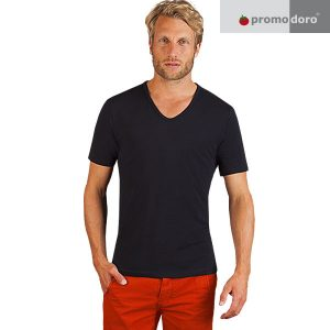 Men Slim Fit V-Neck T-Shirt