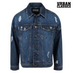 Ripped Denim Jacke